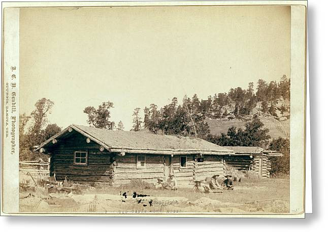 The Old Cabin Home Greeting Card by Litz Collection