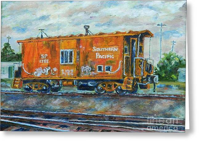 The Old Caboose Greeting Card