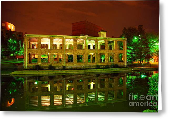 The Old Carriage House Building In Downtown Greenville Sc Greeting Card