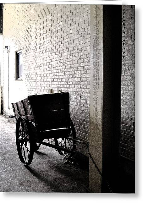 Greeting Card featuring the photograph The Old Cart From The Series View Of An Old Railroad by Verana Stark