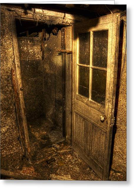 The Old Cellar Door Greeting Card by Dan Stone