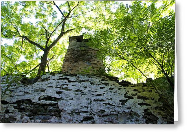 The Old Chimney In The Woods Greeting Card