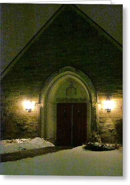 The Old Church Greeting Card by Guy Ricketts