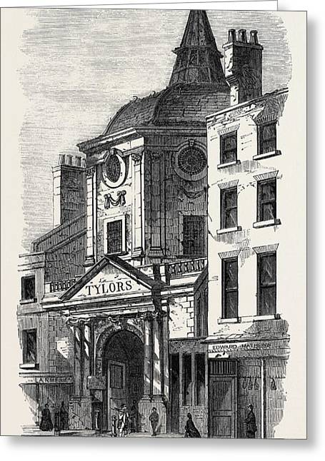 The Old College Of Physicians In Warwick Lane London Uk 1866 Greeting Card