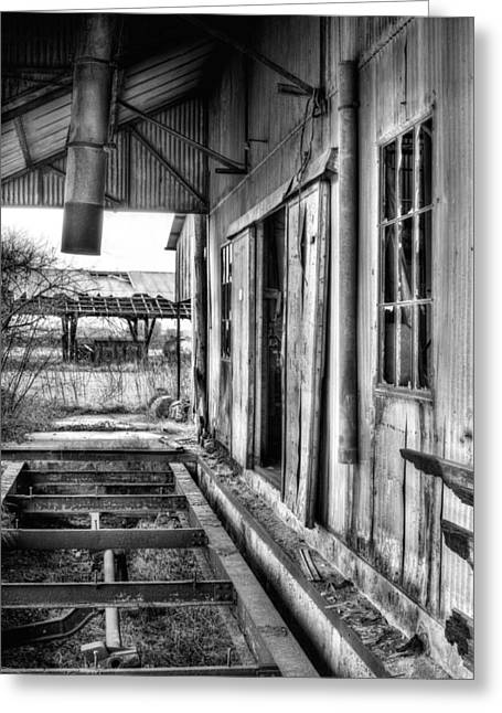 The Old Cotton Gin Bw Greeting Card