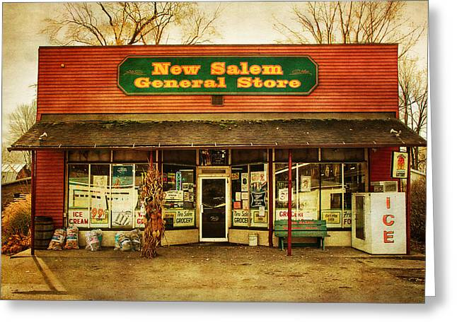 The Old Country Store Greeting Card by Randall Nyhof