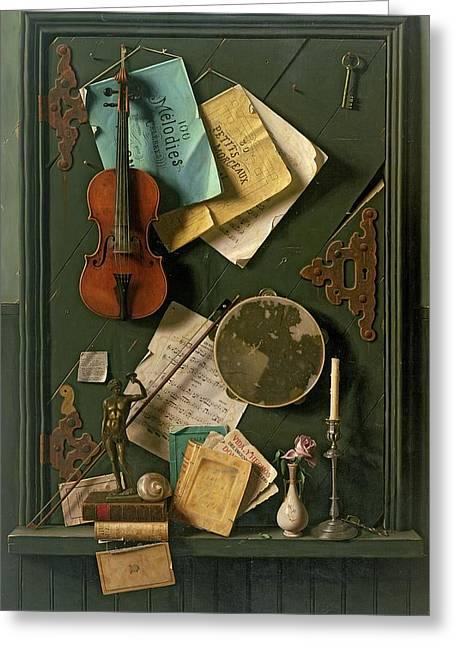 The Old Cupboard Door, 1889 Greeting Card