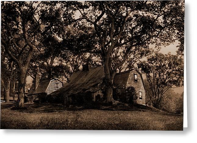 The Old Fairbanks House, Dedham, Massachusetts Greeting Card
