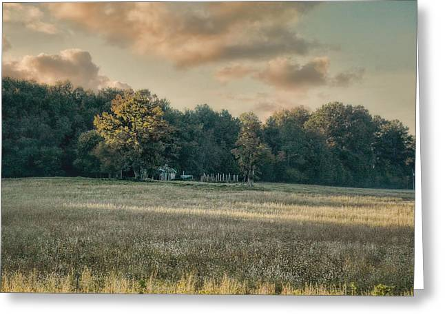 The Old Farm At Sunrise - Country Scene Greeting Card