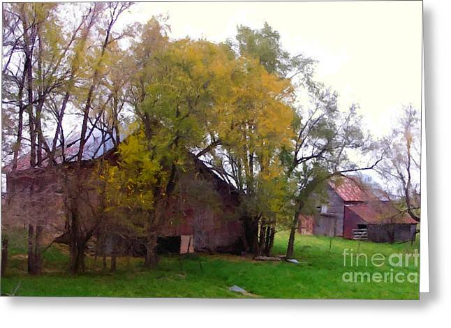 The Old  Farm House Greeting Card by Lanjee Chee