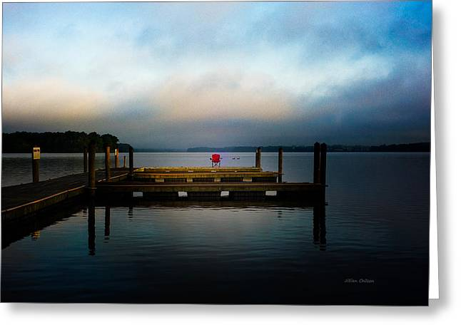 The Old Fishing Spot Greeting Card by Jillian  Chilson