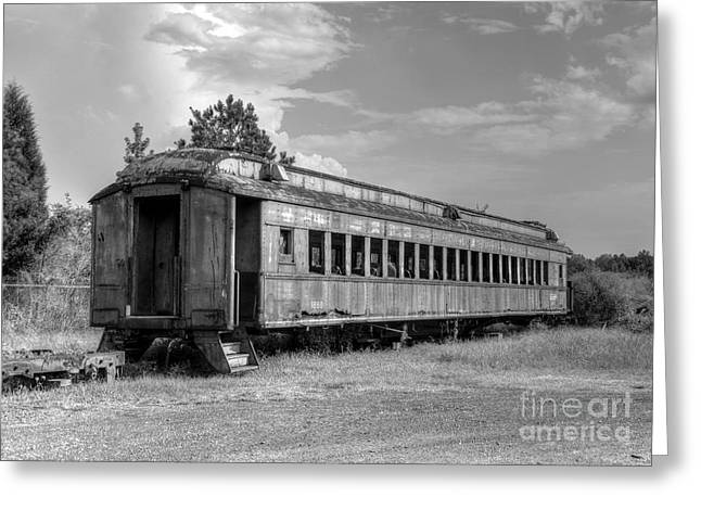 Greeting Card featuring the photograph The Old Forgotten Train by Kathy Baccari