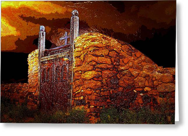The Old Gates Of Galisteo Greeting Card