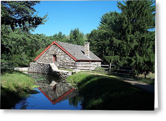 The Old Grist Mill Greeting Card by Georgia Hamlin