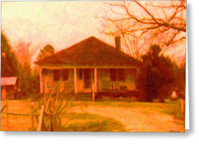 The Old Home Place Greeting Card by Rebecca Korpita