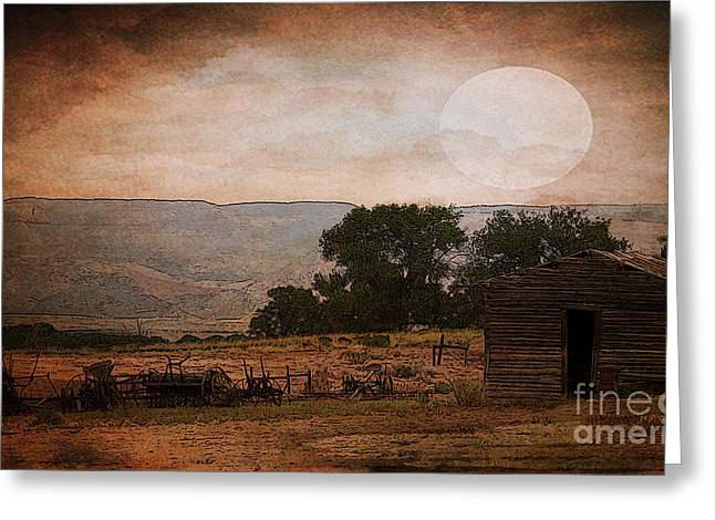 The Old Homestead In Wyoming Greeting Card