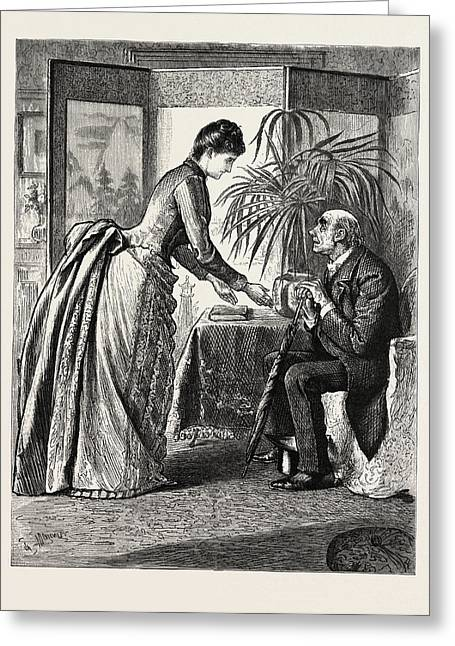 The Old Man And The Lady Greeting Card