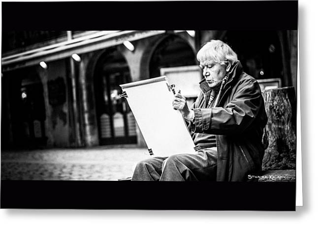 Greeting Card featuring the photograph The Old Man Painter II by Stwayne Keubrick