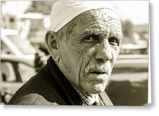 The Old Man. Greeting Card by Slavica Koceva