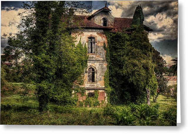 The Old Manor Greeting Card by Marco Oliveira
