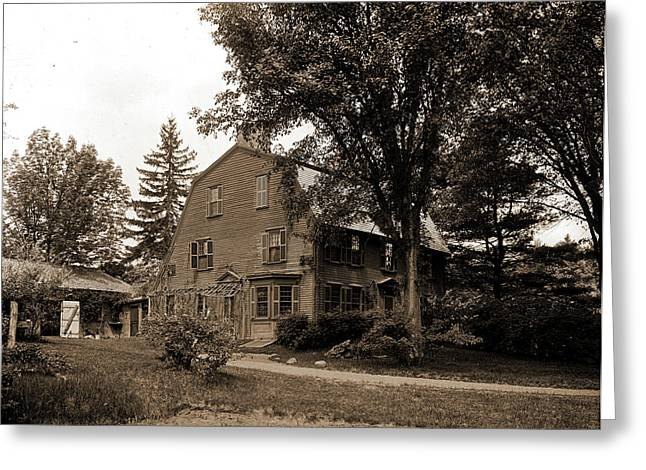 The Old Manse, Concord, Massachusetts, Hawthorne Greeting Card