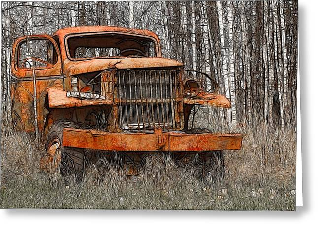 The Old Military Truck Greeting Card