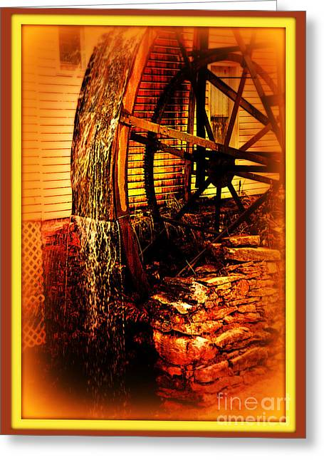 The Old Mill 1886 Cherokee North Carolina Greeting Card by Susanne Van Hulst