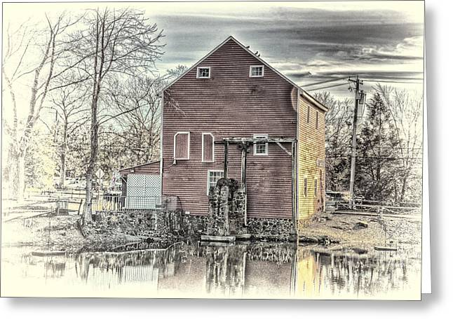 The Old Mill Greeting Card by Arnie Goldstein
