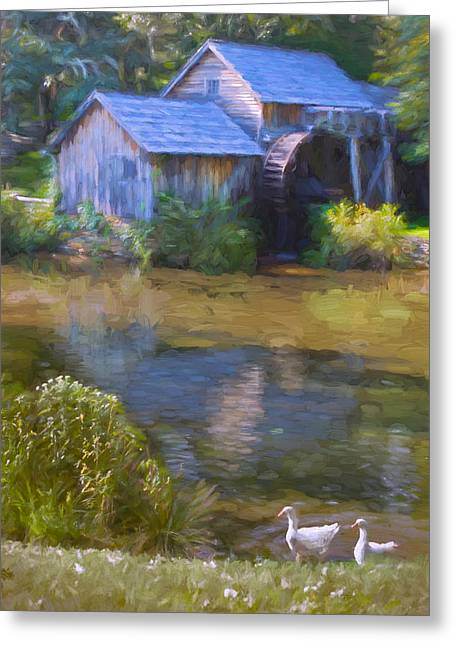 The Old Mill At Mabry Greeting Card