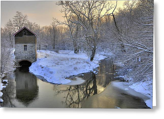 The Old Mill Greeting Card by Dan Myers