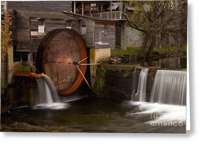 The Old Mill Detail Greeting Card by Douglas Stucky