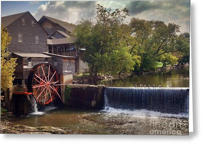 Greeting Card featuring the photograph The Old Mill by Janice Spivey