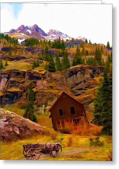 The Old Miners House Greeting Card