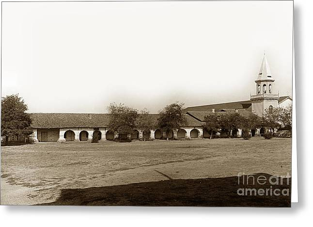 The Old Mission San Juan Bautista Circa 1907 Greeting Card by California Views Mr Pat Hathaway Archives