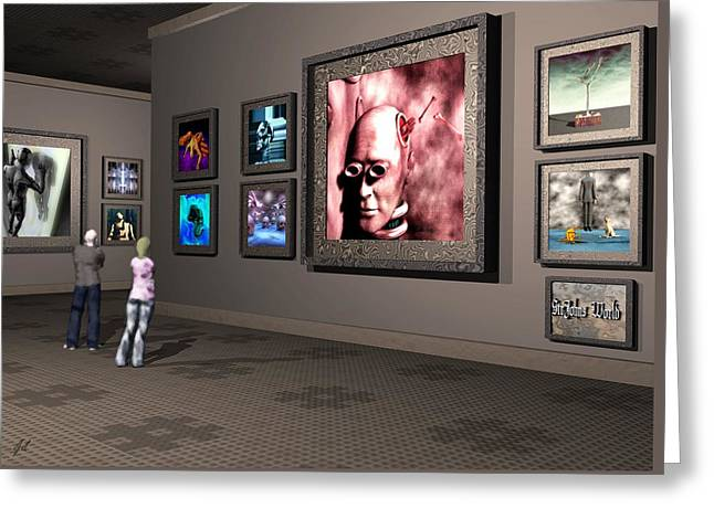 Greeting Card featuring the digital art The Old Museum by John Alexander