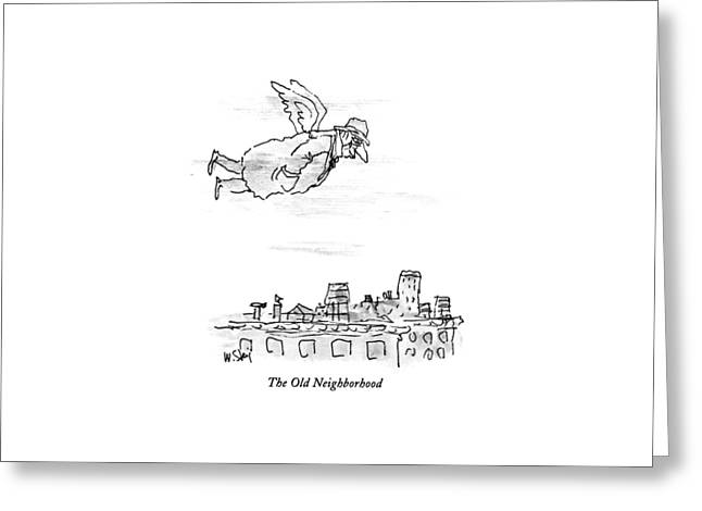 The Old Neighborhood Greeting Card by William Steig