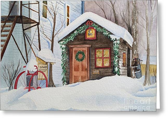 The Old Niwot Firehouse Greeting Card by Donlyn Arbuthnot