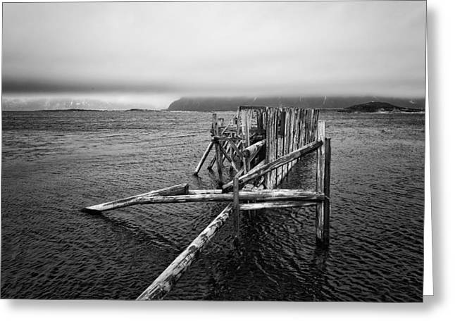 The Old Pier Greeting Card by Thomas Berger