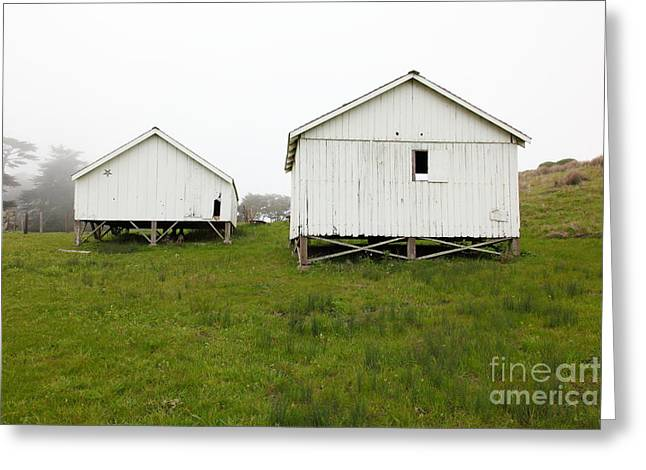 The Old Pierce Point Ranch At Foggy Point Reyes California 5d28140 Greeting Card