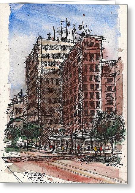 The Old Pioneer Hotel Greeting Card by Tim Oliver