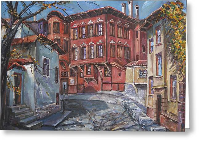 The Old Plovdiv - Autumn Sun Greeting Card by Stefano Popovski