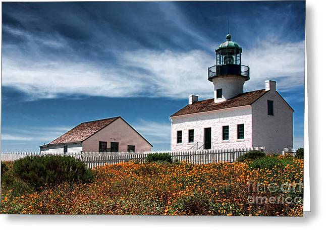 The Old Point Loma Lighthouse By Diana Sainz Greeting Card