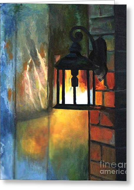 The Old Porch Light Greeting Card