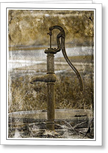 The Old Pump Greeting Card by Karen McKenzie McAdoo