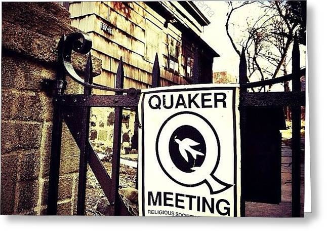 The Old Quaker Meeting House: Built In Greeting Card