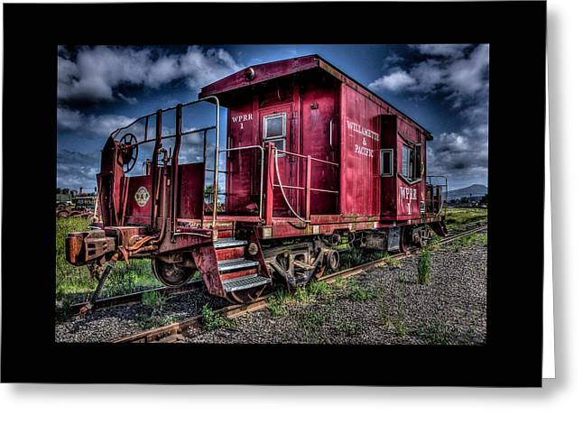 Greeting Card featuring the photograph Old Red Caboose by Thom Zehrfeld