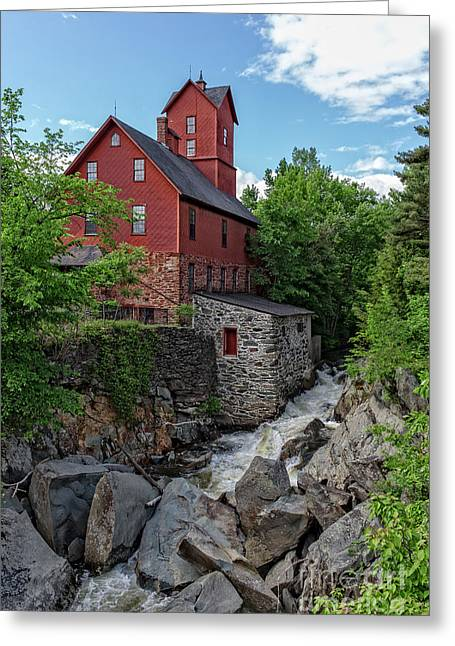 The Old Red Mill Jericho Vermont Greeting Card