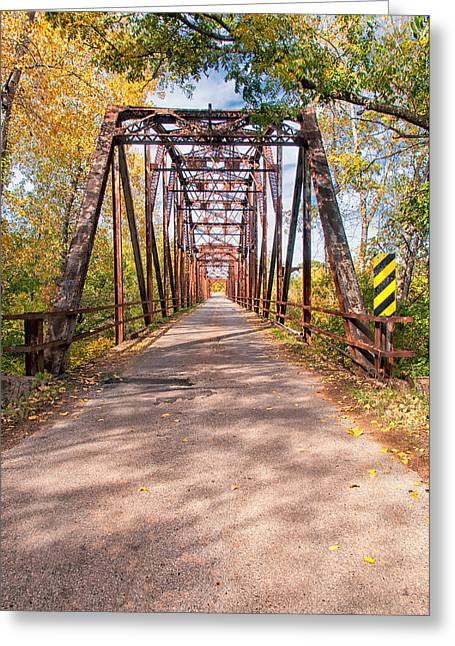 The Old River Bridge Greeting Card