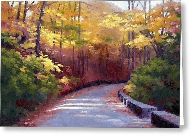 The Old Roadway In Autumn II Greeting Card