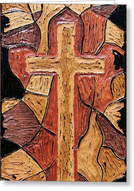 The Old Rugged Cross Greeting Card by Lisa Brandel